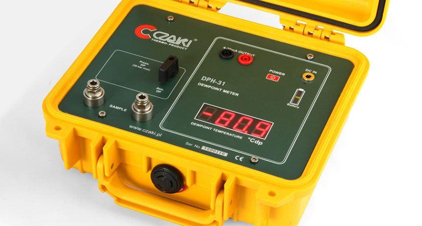 Bateryjny miernik wilgotności gazów CMH-31