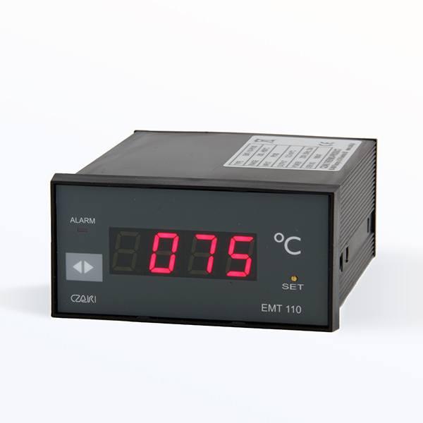 Tablicowy miernik temperatury EMT-110 z wyjściem napięciowym i alarmowym