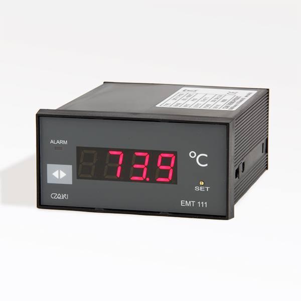Tablicowy miernik temperatury EMT-111 z wyjściem napięciowym i alarmowym