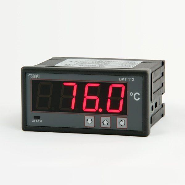 Tablicowy miernik temperatury EMT-112 z wyjściem alarmowym