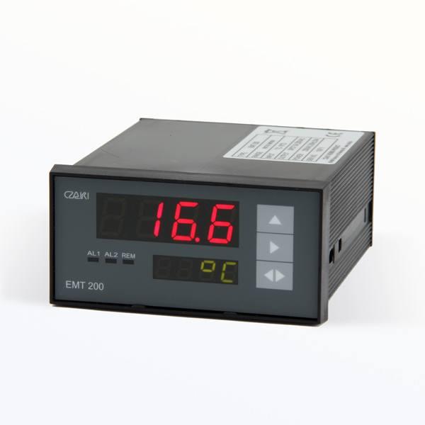 Tablicowy miernik temperatury EMT-200 z alarmami, interfejsem szeregowym, programowalny