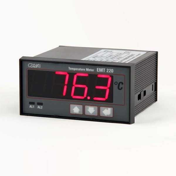 Tablicowy miernik temperatury EMT-220, programowalny, z dwoma wyjściami alarmowymi