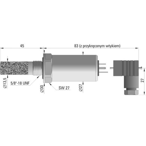 Przetwornik temperatury i wilgotności powietrza HTT-21