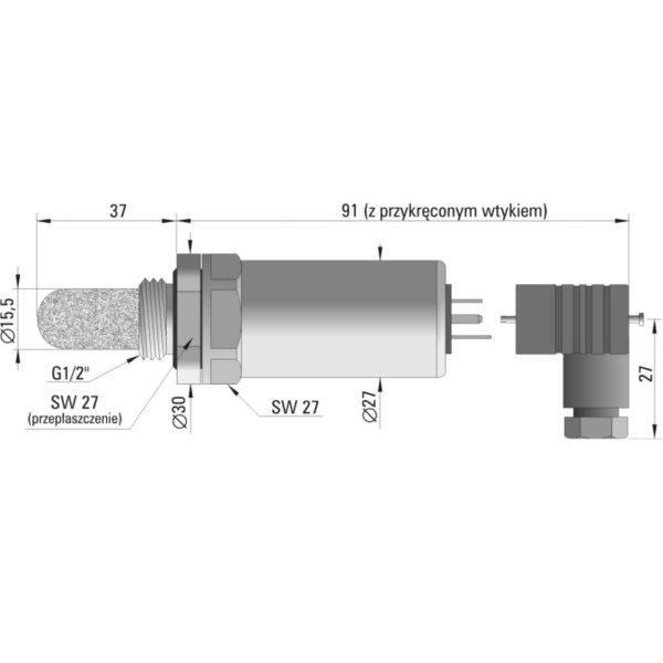 Przetwornik temperatury i wilgotności powietrza HTT-22