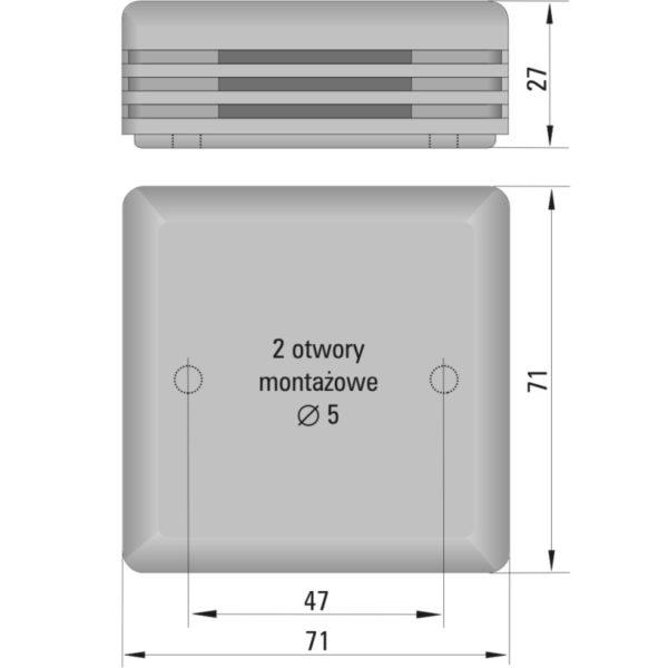 Przetwornik temperatury i wilgotności powietrza HTT-951