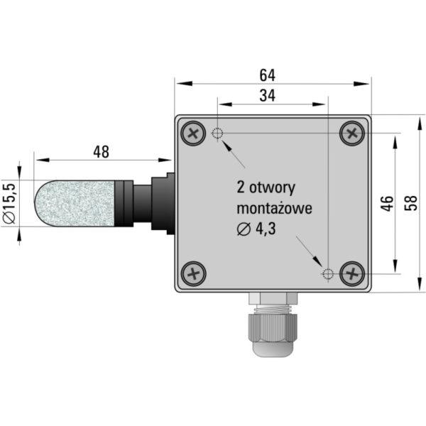Przetwornik temperatury i wilgotności powietrza HTT-952