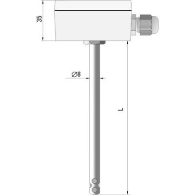 Przetwornik temperatury i wilgotności powietrza HTT-962