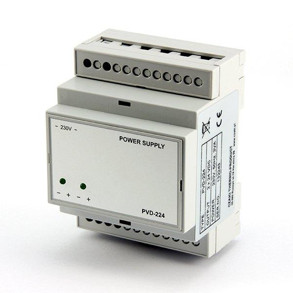 Zasilacz napięcia stałego PVD-224 (24VDC/2x50mA)
