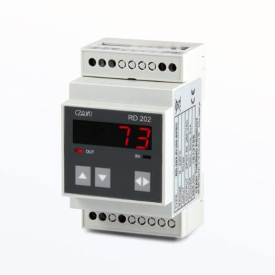 RD-202 Rail-mount temperature controller (on/off with hysteresis control characteristic)