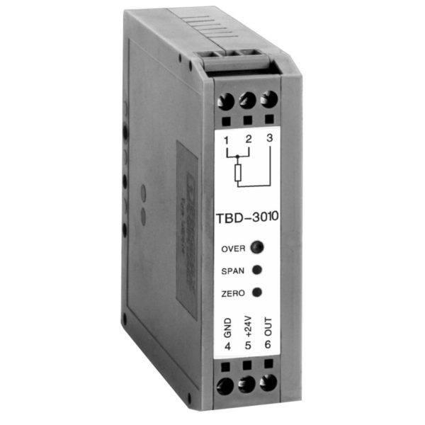TBD Analogowy przetwornik temperatury na szynę DIN z izolacją galwaniczną