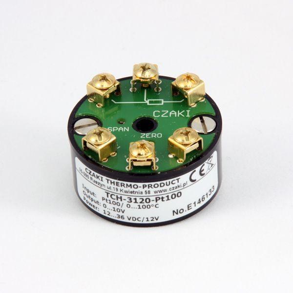 TCH Analogowy, głowicowy przetwornik temperatury