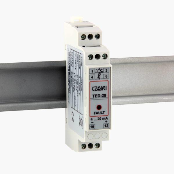 TED-28 Programowalny przetwornik temperatury na szynę DIN z izolacją galwaniczną (wyjście 4-20mA)