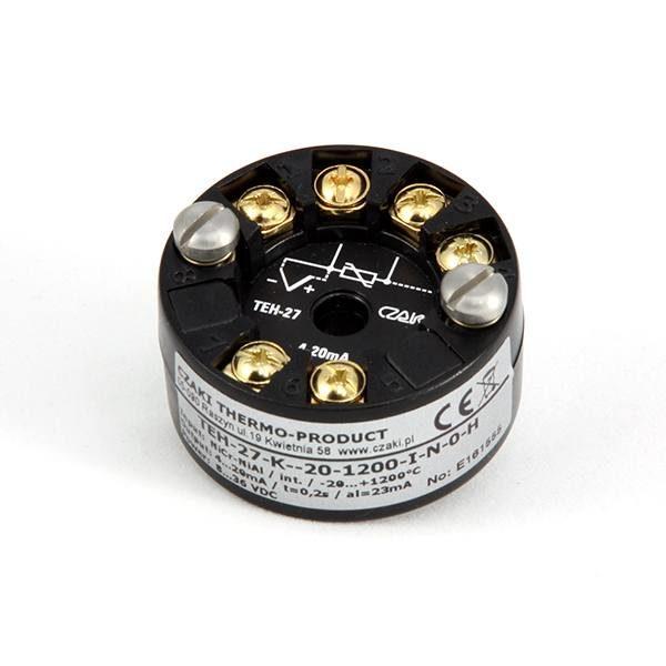 Głowicowy, programowalny przetwornik temperatury TEH-27 (wyjście 4-20mA)