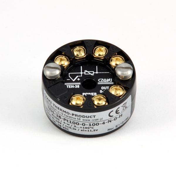 Głowicowy przetwornik temperatury TEH-38 (z wyjściem 0-10V i izolacją galwaniczną)