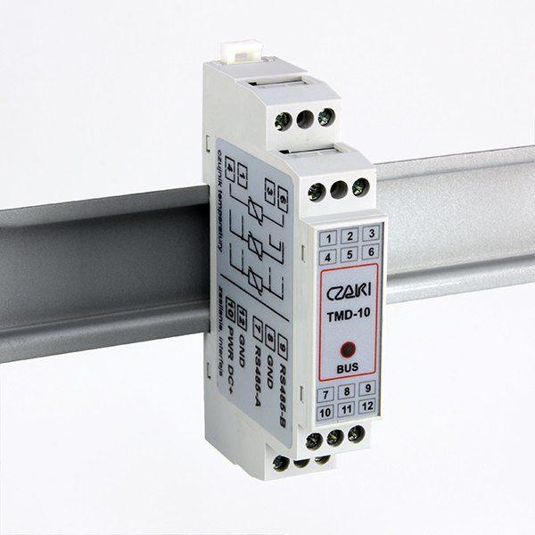 Przetwornik temperatury TMD-10 (na szynę DIN, MODBUS-RTU, Pt100)