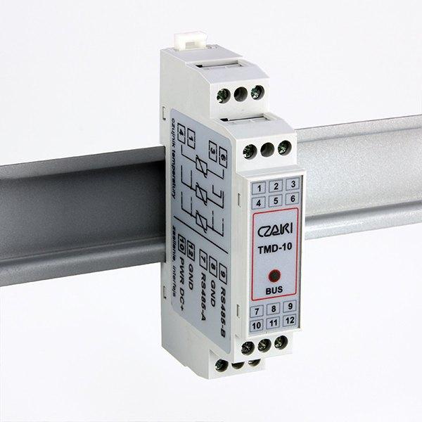 Przetwornik temperatury TMD-10 na szynę DIN, MODBUS-RTU
