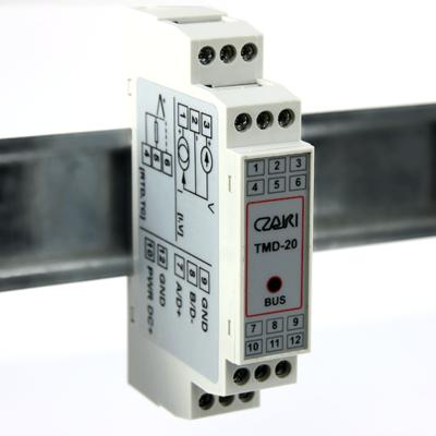 TMD-20 Programowalny przetwornik temperatury na szynę DIN (Modbus-RTU)