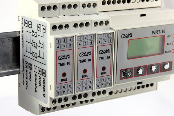 Rejestrator temperatury WRT-16M - wielokanałowy, Modbus-RTU, magistrala RS485