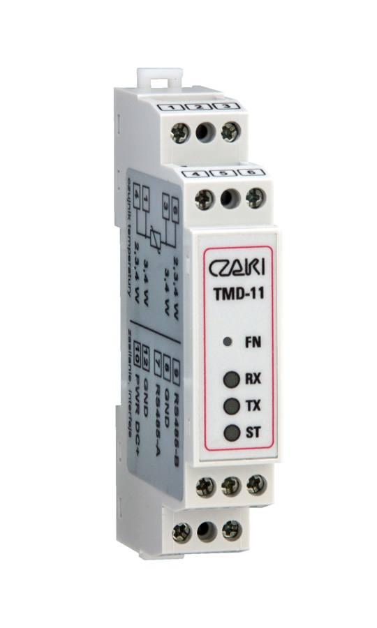 Przetwornik temperatury TMD-11 (na szynę DIN, MODBUS-RTU, Pt100)