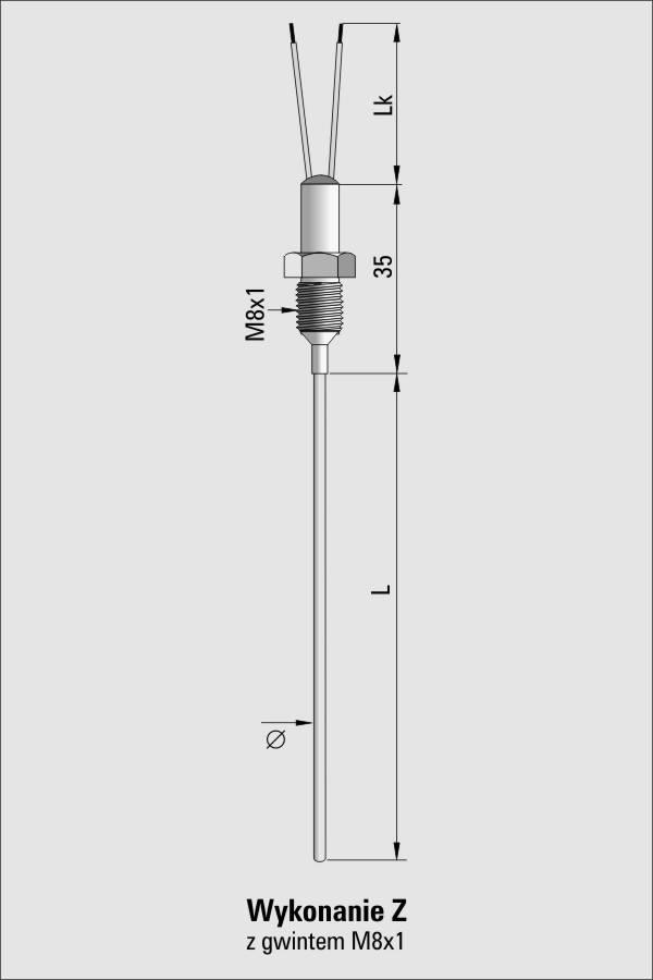 Czujnik temperatury TP-211_214 (termoelement płaszczowy)