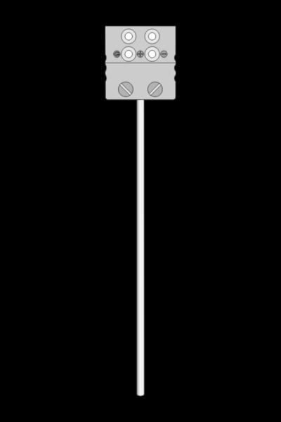 Temperature sensor TP-261_263 sheathed termoresistive with MP socket