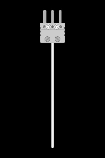 Temperature sensor TP-271_273 resistive sheathed with MP plug