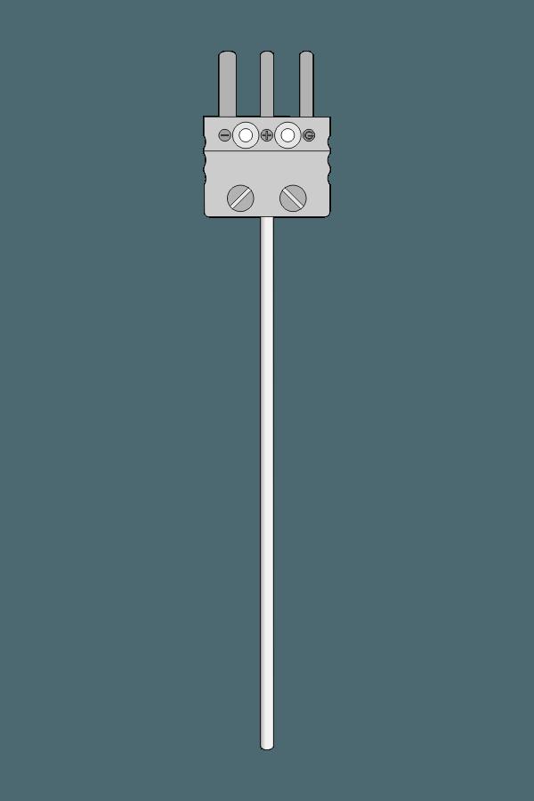 Czujnik temperatury TP-271_273 (Pt100, płaszczowy, wtyk MP)