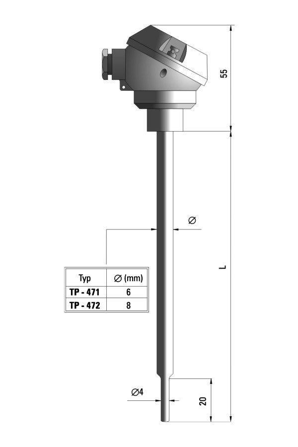 Temperature sensor TP-471_472