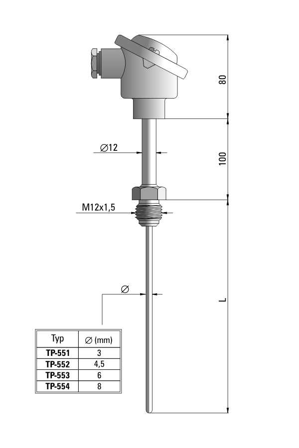 Temperature sensor TP-551_554