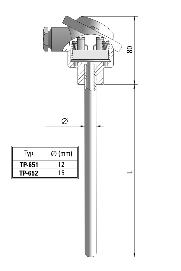 Temperature sensor TP-651_651