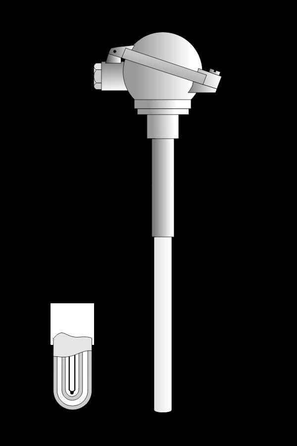 Czujnik temperatury TP-831_833 (podwójna osłona ceramiczna)